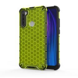 OTT! HONEYCOMB műanyag védő tok / hátlap - ZÖLD - szilikon belső, erősített sarkok, méhsejt mintás, ERŐS VÉDELEM! - Xiaomi Redmi Note 8