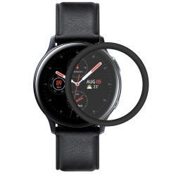 HAT PRINCE okosóra képernyővédő fólia - 1db - 3D Curved, A teljes képernyőt védi - FEKETE - Samsung Galaxy Watch Active2 44mm - GYÁRI