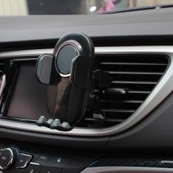 """UNIVERZÁLIS autós / gépkocsi tartó - FEKETE / SZÜRKE - szellőzőrácsra rögzíthető, 4.7-6.5""""-os készülékekig"""