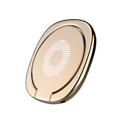 BASEUS Privity ujjtámasz, gyűrű tartó - Biztos fogás készülékéhez, asztali tartó funkció, 180°-ban forgatható, tapadófelület mágneses autós tartóhoz - ARANY - GYÁRI