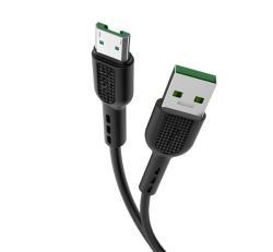 HOCO X33 adatátvitel adatkábel / USB töltő - USB / microUSB, 1m, gyorstöltés támogatás - FEKETE - X33_MICROUSB_B - GYÁRI
