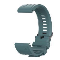 Okosóra szíj - szilikon, textúrált mintás - VILÁGOSZÖLD - 26mm széles, 93mm + 130mm hosszú - Garmin Fenix 6X/6X Pro/Fenix 5X/Fenix 5X Plus/Fenix 3/Fenix 3 HR