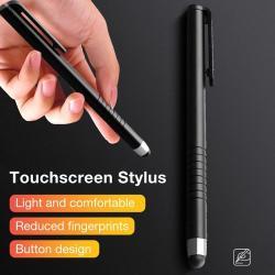 Érintőképernyő ceruza - kapacitív kijelzőhöz, 115 x 11mm - FEKETE