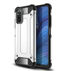 OTT! MAX DEFENDER műanyag védő tok / hátlap - EZÜST - szilikon belső, ERŐS VÉDELEM! - Xiaomi Redmi Note 10 / Redmi Note 10S