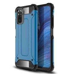 OTT! MAX DEFENDER műanyag védő tok / hátlap - VILÁGOSKÉK - szilikon belső, ERŐS VÉDELEM! - Xiaomi Redmi Note 10 / Redmi Note 10S