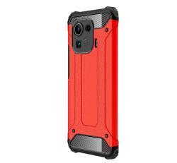 OTT! MAX DEFENDER műanyag védő tok / hátlap - PIROS - szilikon belső, ERŐS VÉDELEM! - Xiaomi Mi 11 Pro