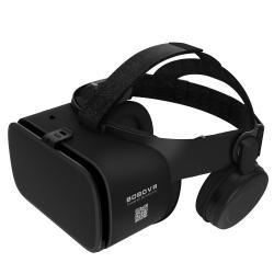 BOBOVR Z6 videoszemüveg - VR 3D, filmnézéshez ideális, FOV max. 110°, V4.2 + EDR, 52 mm-es nagy látószögű lencse, 165 x 83mm telefon befogadó keret, bluetooth-os fejhallgatóval, CSAK GIROSZKÓPPAL ELLÁTOTT OKOSTELEFONOKKAL MŰKÖDIK - FEKETE