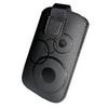 APPLE IPhone 5STok álló - körmintás, kihúzhó pánt, tépõzár, övre fûzhetõ - FEKETE - Iphone 5 méret
