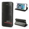 KND notesz / flip tok - oldalra nyíló, asztali tartó funkciós - FEKETE - Apple IPhone 5 / Apple IPhone 5S