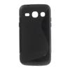 Szilikon védő tok / hátlap - FÉNYES/MATT - FEKETE - SAMSUNG SM-G3500 Galaxy Core Plus / SAMSUNG GT-G3500 Galaxy Trend 3