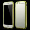 CRYSTAL mûanyag védõ tok / átlátszó hátlap - szilikon keret - SÁRGA - APPLE IPhone 6