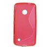 EXKLUZÍV telefonvédő gumi / szilikon tok (FÉNYES/MATT) - PIROS - NOKIA Lumia 530 / NOKIA Lumia 530 Dual SIM