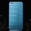 Mûanyag védõ tok / hátlap - szálcsiszolt / négyzet mintás - KÉK - APPLE iPhone 6