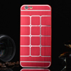 Mûanyag védõ tok / hátlap - szálcsiszolt / négyzet mintás - PIROS - APPLE iPhone 6