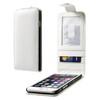 Flip tok - lefelé nyíló, rejtett mágneses záródás. Bankkártya / igazolvány tartó zsebek, hátrafelé záródó - FEHÉR - PRÉMIUM - APPLE iPhone 6
