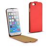SLIM FLIP tok - lefelé nyíló, rejtett mágneses záródás - PIROS - APPLE iPhone 6