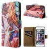 Notesz tok / flip tok - SZEXI LÁNY 3 - asztali tartó funkciós, oldalra nyíló, rejtett mágneses záródás, bankkártyatartó zseb - APPLE iPhone 6