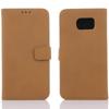 Notesz tok / flip tok - asztali tartó funkciós, oldalra nyíló, rejtett mágneses záródás, bankkártyatartó zseb - MATT - VILÁGOSBARNA - SAMSUNG SM-G920 Galaxy S6