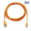 ASUS Fonepad 7 (ME372CL / ME175CG)Adatátviteli kábel / USB töltõ - microUSB 2.0, 3m hosszú - NARANCS