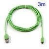 ASUS Fonepad 7 (ME372CL / ME175CG)Adatátviteli kábel / USB töltõ - microUSB 2.0, 3m hosszú - ZÖLD
