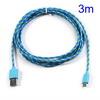 ASUS Fonepad 7 (ME372CL / ME175CG)Adatátviteli kábel / USB töltõ - microUSB 2.0, 3m hosszú - KÉK