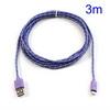 ASUS Fonepad 7 (ME372CL / ME175CG)Adatátviteli kábel / USB töltõ - microUSB 2.0, 3m hosszú - LILA