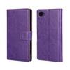 CRAZY notesz tok / flip tok - LILA - asztali tartó funkciós, oldalra nyíló, rejtett mágneses záródás, bankkártyatartó zseb - SONY Xperia Z5 Compact