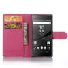 WALLET notesz tok / flip tok - MAGENTA - asztali tartó funkciós, oldalra nyíló, rejtett mágneses záródás, bankkártyatartó zseb - SONY Xperia Z5 Compact
