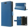 Notesz / mappa tok - oldalra nyíló flip, asztali tartó funkció, mágneses záródás, bankkártya tartó - KÉK - HUAWEI Ascend G6 4G (G6-L11)