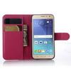 WALLET notesz tok / flip tok - MAGENTA - asztali tartó funkciós, oldalra nyíló, rejtett mágneses záródás, bankkártyatartó zseb - SAMSUNG SM-J200F Galaxy J2