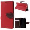 Notesz tok / flip tok - PIROS - asztali tartó funkciós, oldalra nyíló, rejtett mágneses záródás, bankkártya tartó zsebekkel, szilikon belsõ - SONY XPERIA M5 / M5 DUAL (E5603 / E5606 / E5653 / E5633 / E5643 / E5663)