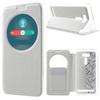 Notesz / flip tok - FEHÉR - oldalra nyíló ablakos flip cover, hívószámkijelzõ kivágás, asztali tartó funkció, szilikon belsõ - ASUS Zenfone 2 Laser (ZE601KL)