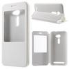 Notesz / flip tok - FEHÉR - oldalra nyíló ablakos flip cover, hívószámkijelzõ kivágás, asztali tartó funkció, rejtett mágneses - ASUS Zenfone 2 (ZE500CL)