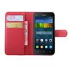 WALLET notesz tok / flip tok - PIROS - asztali tartó funkciós, oldalra nyíló, rejtett mágneses záródás, bankkártyatartó zseb - HUAWEI Y5