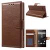 WALLET notesz tok / flip tok - BARNA - asztali tartó funkciós, oldalra nyíló, rejtett mágneses záródás, bankkártyatartó zseb - SONY Xperia Z5 Compact