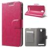 Notesz tok / flip tok - RÓZSASZÍN - asztali tartó funkciós, oldalra nyíló, rejtett mágneses záródás, bankkártya tartó - ASUS Zenfone Go (ZC450TG)