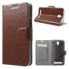 Notesz tok / flip tok - BARNA - asztali tartó funkciós, oldalra nyíló, rejtett mágneses záródás, bankkártya tartó - ASUS Zenfone Go (ZC450TG)