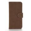 Notesz / flip tok - BARNA - oldalra nyíló, rejtett mágneses, álló, asztali tartó funkció, bankkártya tartó - APPLE iPhone SE / APPLE iPhone 5s / APPLE iPhone 5