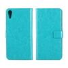 Notesz tok / flip tok - VILÁGOSKÉK - asztali tartó funkciós, oldalra nyíló, rejtett mágneses záródás, bankkártya tartó - HTC Desire 828