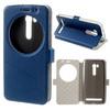 Notesz tok / flip tok - KÉK - asztali tartó funkciós, oldalra nyíló ablakos flip cover, rejtett mágneses záródás, szilikon belsõ - ASUS ZenFone Go (ZB551KL)