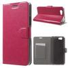 Notesz tok / flip tok - RÓZSASZÍN - asztali tartó funkciós, oldalra nyíló, rejtett mágneses záródás, bankkártya tartó, szilikon belsõ - ASUS Pegasus (5000 / X005)