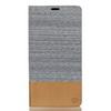 Notesz tok / flip tok - SZÜRKE - asztali tartó funkciós, oldalra nyíló, bankkártya tartó zsebekkel, szilikon belsõ - SONY Xperia XA Ultra