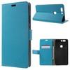 FLEXI notesz tok / flip tok - VILÁGOSKÉK - asztali tartó funkciós, oldalra nyíló, rejtett mágneses záródás, bankkártya tartó zseb, szilikon belsõ - HUAWEI Honor V8