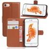 WALLET notesz tok / flip tok - BARNA - asztali tartó funkciós, oldalra nyíló, rejtett mágneses záródás, bankkártyatartó zseb, szilikon belsõ - APPLE iPhone 7 (4.7)