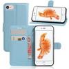 WALLET notesz tok / flip tok - VILÁGOSKÉK - asztali tartó funkciós, oldalra nyíló, rejtett mágneses záródás, bankkártyatartó zseb, szilikon belsõ - APPLE iPhone 7 (4.7)