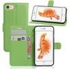 WALLET notesz tok / flip tok - ZÖLD - asztali tartó funkciós, oldalra nyíló, rejtett mágneses záródás, bankkártyatartó zseb, szilikon belsõ - APPLE iPhone 7 (4.7)