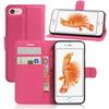 WALLET notesz tok / flip tok - MAGENTA - asztali tartó funkciós, oldalra nyíló, rejtett mágneses záródás, bankkártyatartó zseb, szilikon belsõ - APPLE iPhone 7 (4.7)