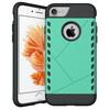 PROTECT mûanyag védõ tok / hátlap - CYAN KÉK - szilikon betétes, ERÕS VÉDELEM! - APPLE iPhone 7 (4.7)