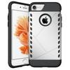 PROTECT mûanyag védõ tok / hátlap - EZÜST - szilikon betétes, ERÕS VÉDELEM! - APPLE iPhone 7 (4.7)