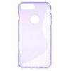 Szilikon védõ tok / hátlap - FÉNYES / MATT - LILA - APPLE iPhone 7 Plus (5.5)
